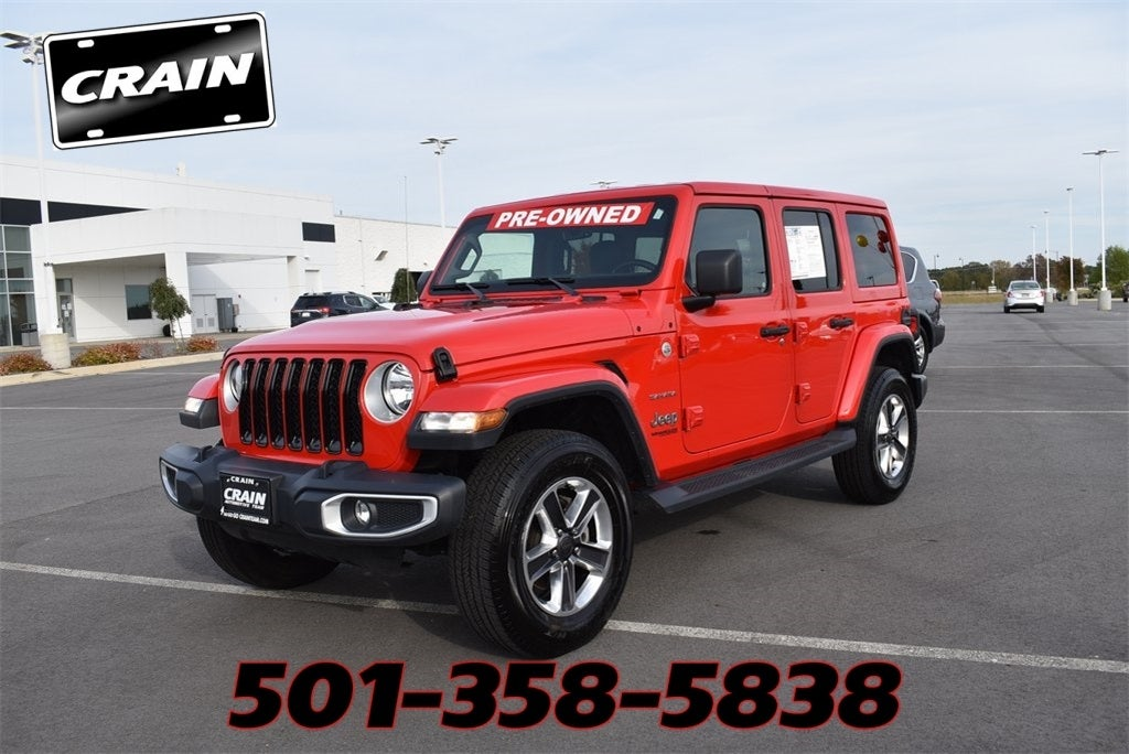 2020 Jeep Wrangler Unlimited Sahara In Conway Ar Conway Jeep Wrangler Crain Kia Of Conway